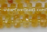 CRB842 15.5 inches 6*10mm faceted rondelle citrine beads
