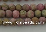 CRC1001 15.5 inches 6mm round matte rhodochrosite gemstone beads