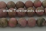 CRC1002 15.5 inches 8mm round matte rhodochrosite gemstone beads