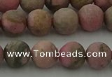 CRC1003 15.5 inches 10mm round matte rhodochrosite gemstone beads