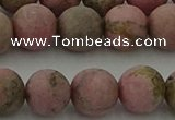 CRC1004 15.5 inches 12mm round matte rhodochrosite gemstone beads