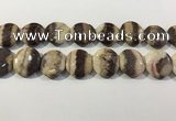 CRC1074 15.5 inches 25mm flat round rhodochrosite beads