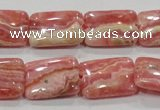 CRC109 15.5 inches 15*20mm rectangle natural argentina rhodochrosite beads