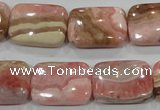 CRC112 15.5 inches 15*20mm rectangle natural argentina rhodochrosite beads