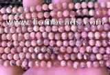 CRC1170 15.5 inches 5mm faceted round rhodochrosite gemstone beads