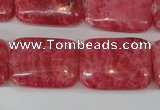 CRC34 15.5 inches 18*25mm rectangle dyed rhodochrosite gemstone beads