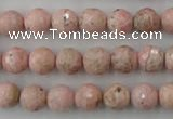 CRC453 15.5 inches 10mm faceted round Argentina rhodochrosite beads