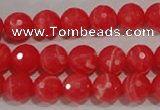 CRC513 15.5 inches 10mm faceted round synthetic rhodochrosite beads