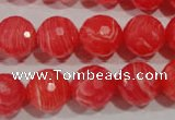 CRC515 15.5 inches 14mm faceted round synthetic rhodochrosite beads
