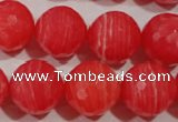 CRC517 15.5 inches 18mm faceted round synthetic rhodochrosite beads