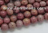 CRC52 15.5 inches 8mm round rhodochrosite gemstone beads wholesale
