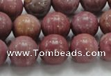 CRC55 15.5 inches 14mm round rhodochrosite gemstone beads wholesale