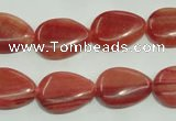 CRC604 15.5 inches 13*18mm flat teardrop imitation rhodochrosite beads