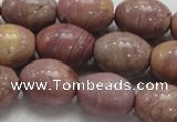 CRC68 15.5 inches 15*20mm rice rhodochrosite gemstone beads