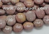 CRC72 15.5 inches 12mm flat round rhodochrosite gemstone beads