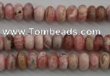CRC752 15.5 inches 4*6mm rondelle rhodochrosite beads wholesale