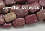 CRC81 15.5 inches 10*14mm rectangle rhodochrosite gemstone beads