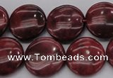 CRC818 15.5 inches 20mm flat round Brazilian rhodochrosite beads