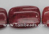 CRC827 15.5 inches 30*40mm rectangle Brazilian rhodochrosite beads
