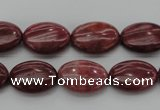 CRC831 15.5 inches 10*14mm oval Brazilian rhodochrosite beads