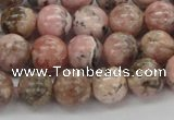 CRC904 15.5 inches 9mm round natural rhodochrosite beads