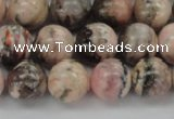 CRC905 15.5 inches 10mm round natural rhodochrosite beads