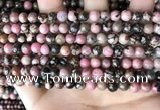 CRD351 15.5 inches 6mm round rhodonite beads wholesale