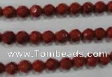 CRE101 15.5 inches 6mm faceted round red jasper beads wholesale