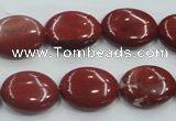CRE11 16 inches 13*18mm oval natural red jasper beads wholesale