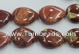 CRE15 16 inches 13*18mm flat teardrop natural red jasper beads wholesale