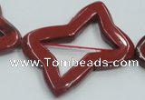 CRE23 16 inches 30*40mm bowknot natural red jasper beads wholesale