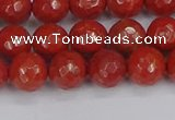 CRE340 15.5 inches 8mm faceted round red jasper beads