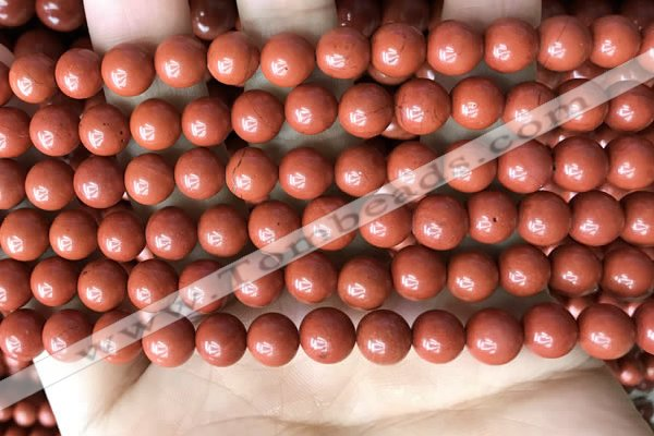 CRE352 15.5 inches 8mm round red jasper beads wholesale
