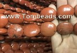 CRE65 15.5 inches 18*25mm - 20*25mm oval red jasper beads wholesale