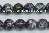CRF05 15.5 inches 12mm round dyed rain flower stone beads wholesale