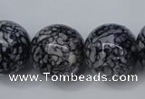 CRF287 15.5 inches 18mm round dyed rain flower stone beads
