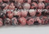 CRF300 15.5 inches 4mm round dyed rain flower stone beads wholesale