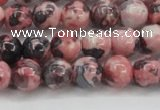 CRF302 15.5 inches 8mm round dyed rain flower stone beads wholesale