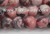 CRF305 15.5 inches 14mm round dyed rain flower stone beads wholesale