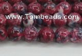 CRF344 15.5 inches 8mm round dyed rain flower stone beads wholesale