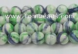 CRF386 15.5 inches 4mm round dyed rain flower stone beads wholesale