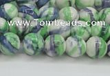 CRF388 15.5 inches 8mm round dyed rain flower stone beads wholesale