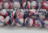 CRF407 15.5 inches 10mm round dyed rain flower stone beads wholesale