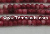 CRF439 15.5 inches 3mm round dyed rain flower stone beads wholesale