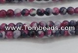 CRF447 15.5 inches 3mm round dyed rain flower stone beads wholesale