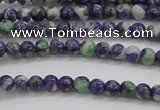 CRF448 15.5 inches 3mm round dyed rain flower stone beads wholesale