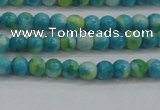 CRF451 15.5 inches 3mm round dyed rain flower stone beads wholesale