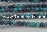 CRF452 15.5 inches 3mm round dyed rain flower stone beads wholesale