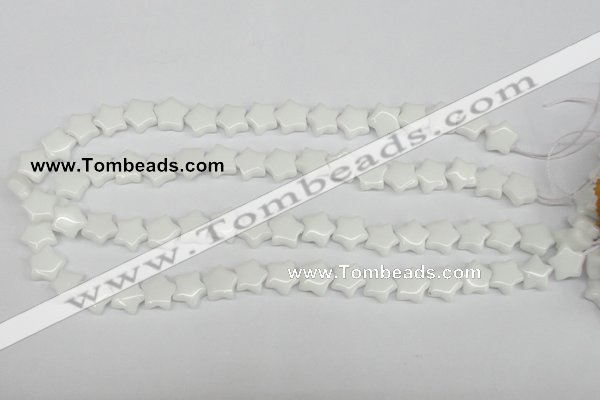 CRG06 15.5 inches 12*12mm star white agate gemstone beads wholesale