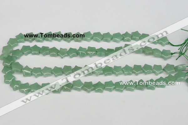 CRG10 15.5 inches 12*12mm star green aventurine gemstone beads